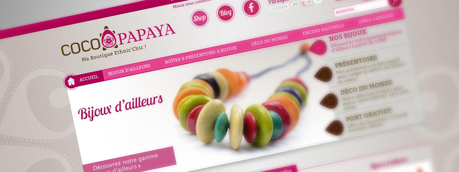 COCO-PAPAYA-création de site e-commerce boulogne sur mer calais