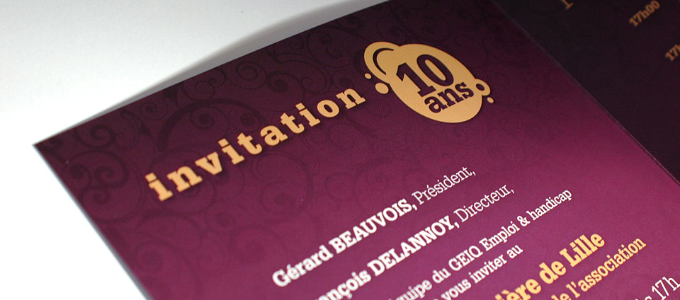 Carton d'invitation ddes 10 ans GEIQ