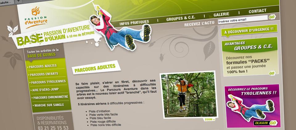 Site web Passion d'Aventure
