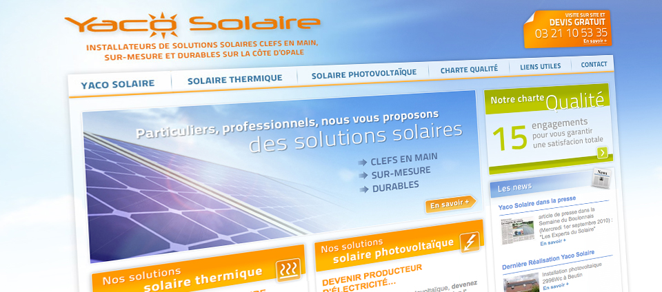 Site web YACO Solaire