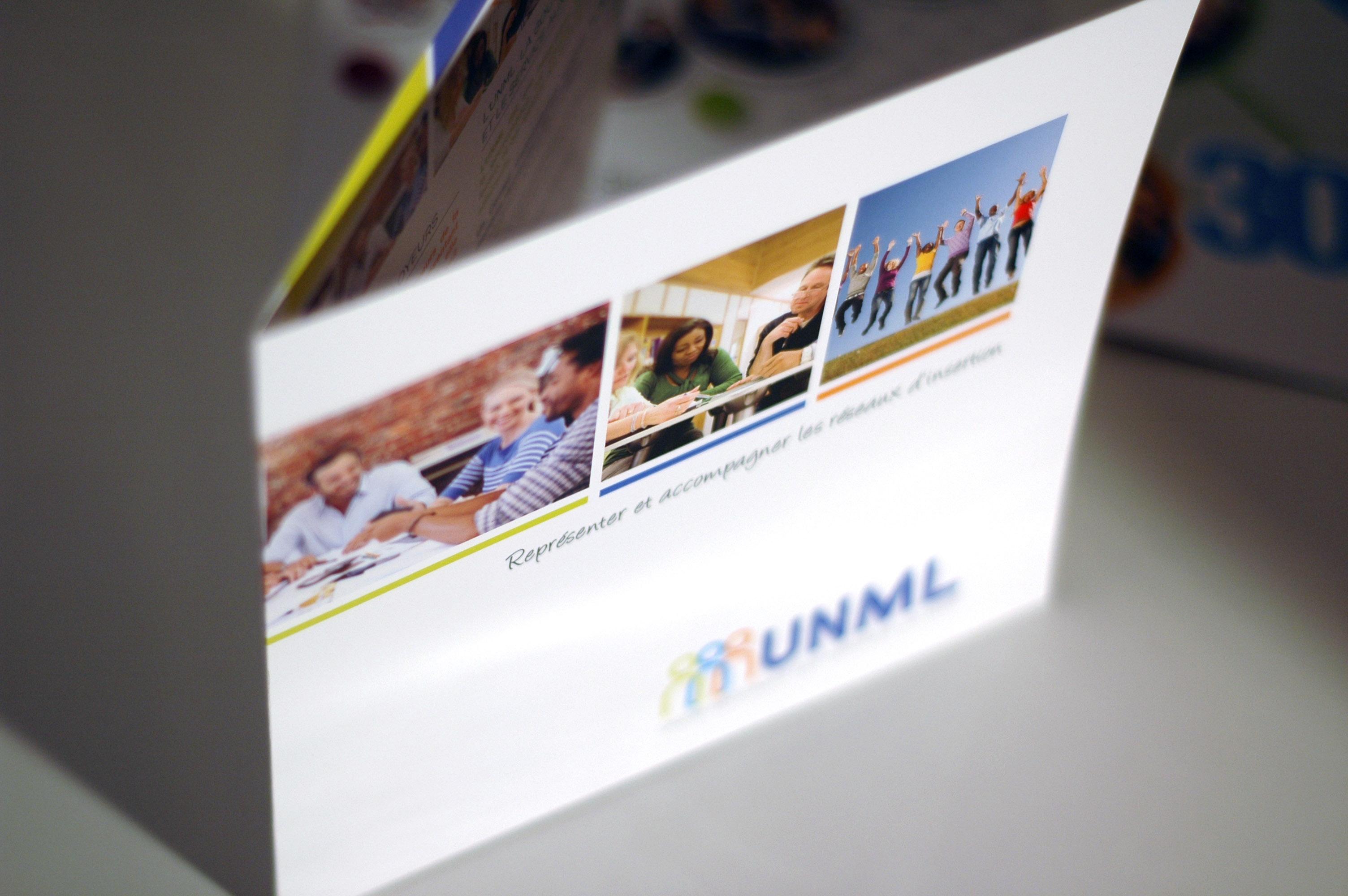 UNML design graphique plaquette Paris