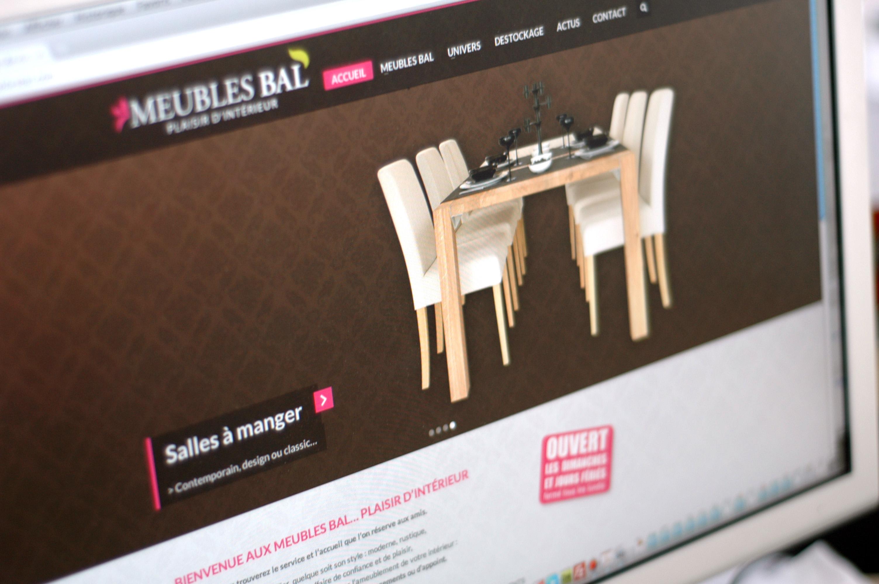 création de site web boulogne-sur-mer nord pas-de-calais 59/62 design de site web wordpress Meubles BAL