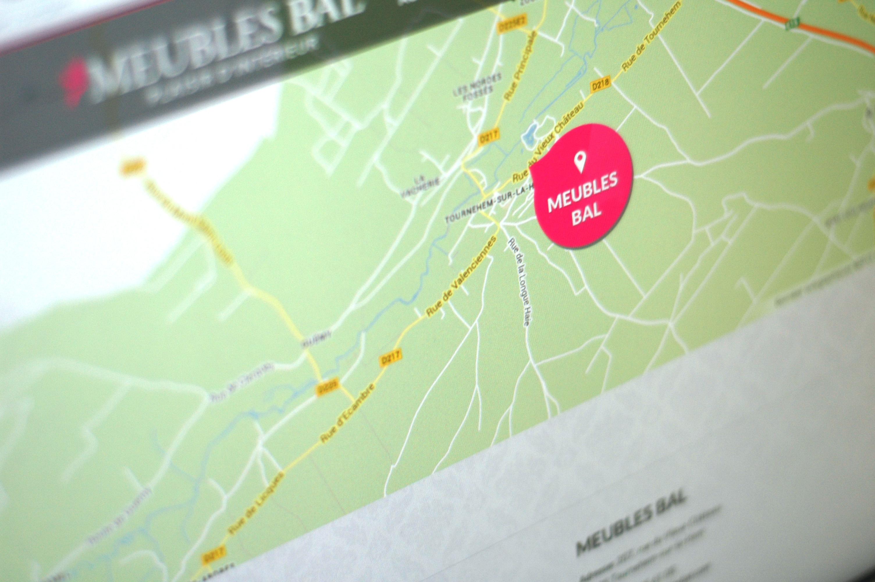 création de site web Saint Omer nord pas-de-calais 59/62 design de site web wordpress Meubles BAL