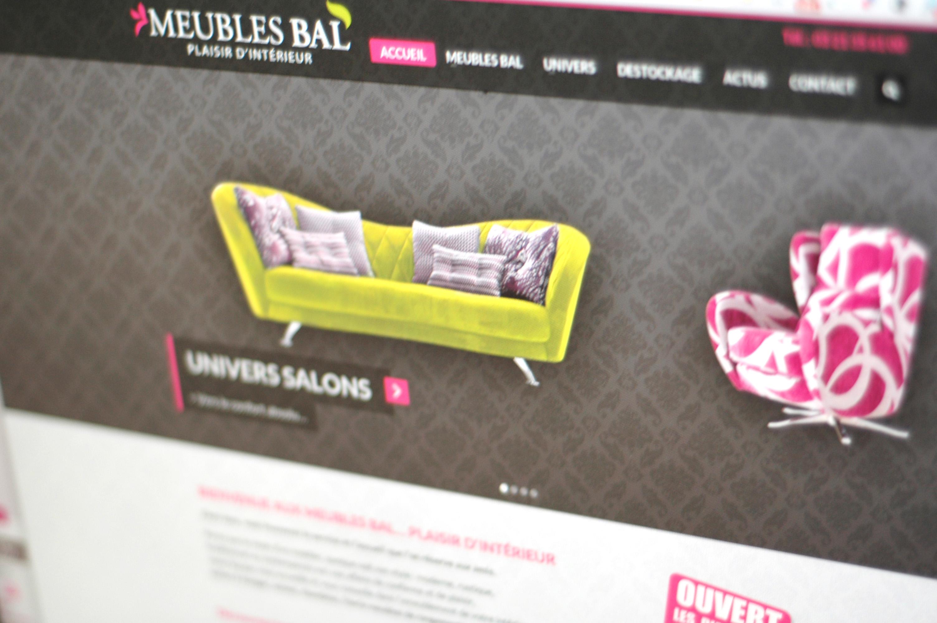 création de site web Saint-Omer nord pas-de-calais 59/62 design de site web wordpress Meubles BAL