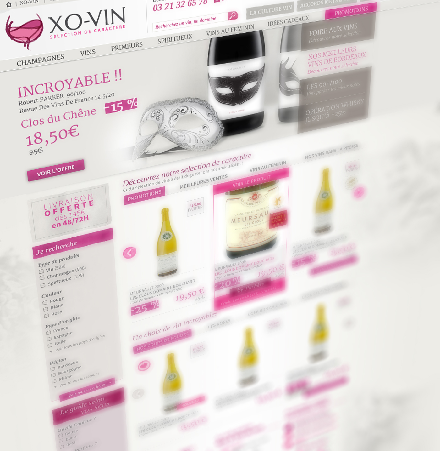 Création site ecommerce, stratégie digitale XO-VIN boulogne-sur-mer