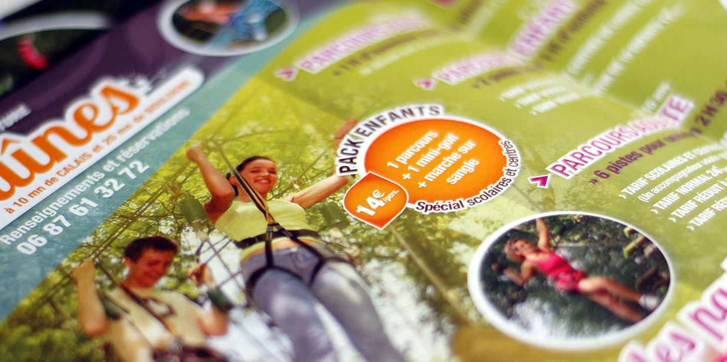 PASSION D'AVENTURE Création de plaquette parcours aventure