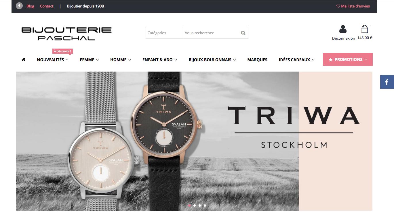 e-commerce Bijouterie Paschal